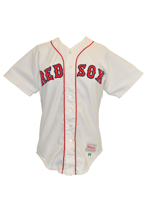 1989 Wade Boggs Boston Red Sox Game-Issued Home Uniform (2)