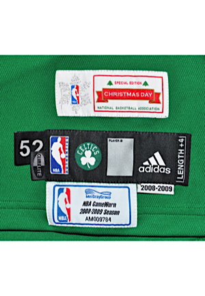 Lot Detail - 12/25/2008 Kendrick Perkins Boston Celtics Christmas ...
