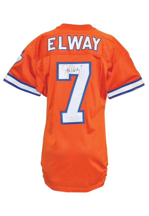 best wholesaler bd38a 3b479 Lot Detail - 1994 John Elway Denver Broncos Orange Crush ...