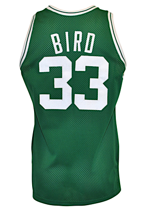 1989-90 Larry Bird Boston Celtics Game-Used Road Jersey