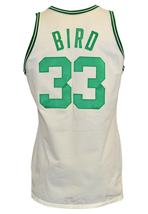 1987-88 Larry Bird Boston Celtics Game-Used Home Jersey