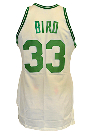 1982-83 Larry Bird Boston Celtics Game-Used Home Jersey (Photo-Matched To Multiple Games Including A 26-Point Playoff Performance • Boston Garden Employee LOA)