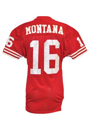 80060705 Lot Detail - 1990 Joe Montana San Francisco 49ers Game-Used Home ...