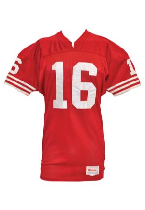8643e834 1990 Joe Montana San Francisco 49ers Game-Used Home Jersey (MVP Season)