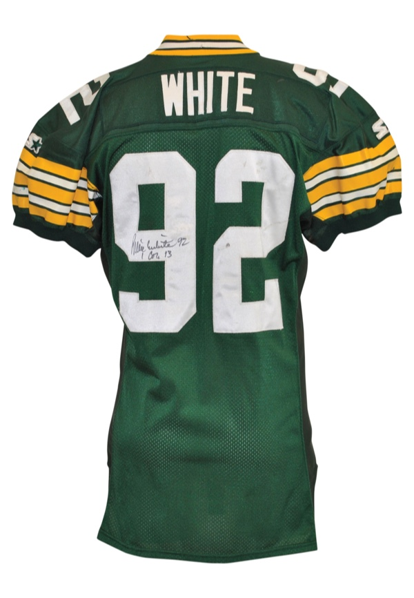 huge discount 51168 44385 Lot Detail - 1995 Reggie White Green Bay Packers Game-Used ...