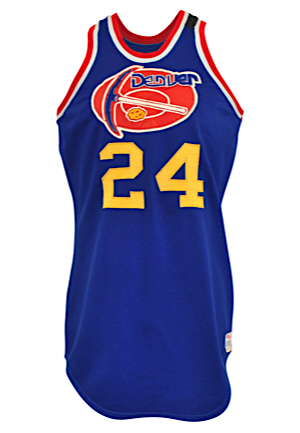 1975-1976 Bobby Jones ABA Denver Nuggets Game-Used Road Jersey (Photo-Matched • Rare Armband • ABA Finals Season)