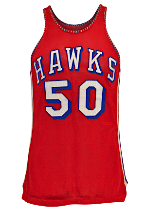 "1956-57 ""Easy"" Ed Macauley St. Louis Hawks Game-Used Home Durene Jersey (Macauley Family LOA • Exceedingly Rare • Fantastic Condition Graded 10)"