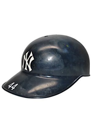 Late 1970s Reggie Jackson New York Yankees Game-Used Helmet (Rare JAX Notation)