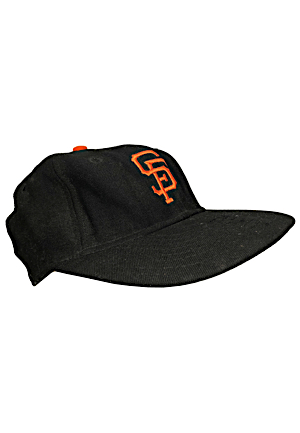 1961 Willie Mays San Francisco Giants Game-Used & Autographed Cap Gifted To Waite Hoyt Attributed To Incredible Single-Game Four Home Run Performance (Full JSA • Hoyt Provenance)