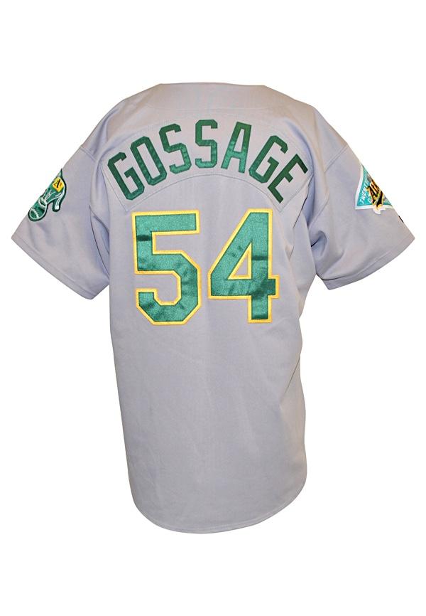 huge discount 3c0c7 49c96 Lot Detail - 1992 Goose Gossage Oakland Athletics Game-Used ...