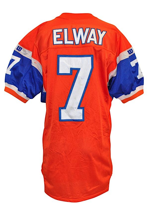 competitive price 11e09 3b96e Lot Detail - 1994 John Elway Denver Broncos Autographed ...