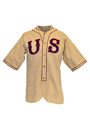 Historic 1936 Berlin Summer Olympics Grover Galvin Jr. Team USA Game-Used Flannel Uniform & Cap (4)(Earliest Olympic Baseball Uniform Known • Sourced From Family)