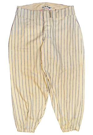 Late 1940s Joe DiMaggio New York Yankees Salesman Sample Home Flannel Pants
