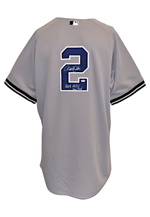 10/8/2012 Derek Jeter New York Yankees Game-Used & Autographed ALDS Road Jersey (JSA • Photo-Matched • MLB Authenticated • Steiner)