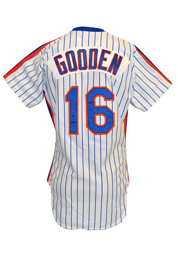 newest 2ed89 a9876 Lot Detail - 1985 Dwight Gooden New York Mets Game-Used Home ...