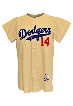 1954 Gil Hodges Brooklyn Dodgers Game-Used Home Flannel Jersey (Very Rare • Fantastic All-Original Condition)