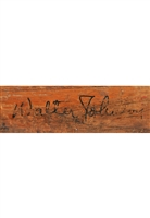 "Walter Johnson Single-Signed Lou Gehrig Signature Model Baseball Bat (Full JSA LOA • Only Known Authenticated ""Big Train"" Signed Bat)"