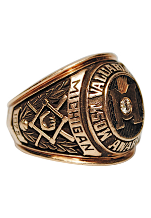 1978 Most Valuable Player Ring Awarded To Steve Howe Of The University Of Michigan