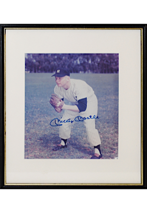 Mickey Mantle New York Yankees Single-Signed Framed 8x10 Color Photo (Full JSA)