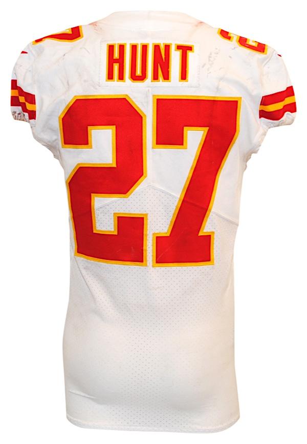 pretty nice cfa6f 2bab6 Lot Detail - 2017 Kareem Hunt Kansas City Chiefs Game-Used ...