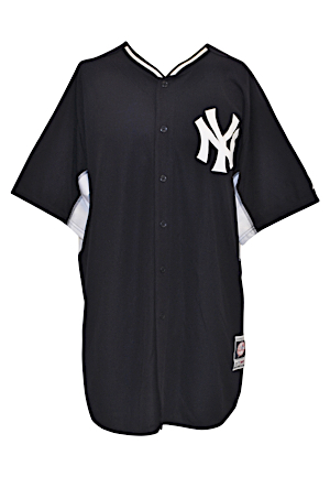 2015 Dellin Betances New York Yankees Team-Issued Home & Road BP Tops & Caps (4)(MLB Authenticated • Steiner)