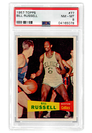 1957 Topps Bill Russell #77 (PSA Graded NM-MT 8)