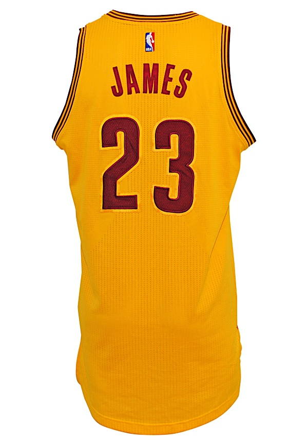 lowest price 74ffd 92c5b Lot Detail - 2015-16 LeBron James Cleveland Cavaliers Game ...