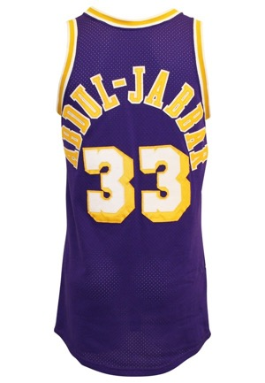 Circa 1985 Kareem Abdul-Jabbar Los Angeles Lakers Game-Used Road Jersey