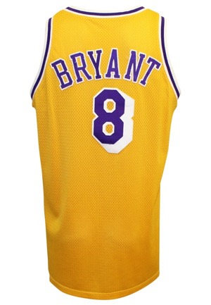 1998-99 Kobe Bryant Los Angeles Lakers Game-Used & Autographed Home Uniform (2)(JSA • Basketball Hall of Fame LOA)
