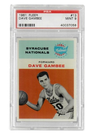 1961 Fleer Dave Gambee #13 (PSA Graded Mint 9)