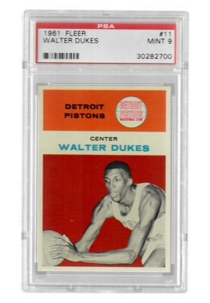 1961 Fleer Walter Dukes #11 (PSA Graded Mint 9)