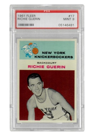 1961 Fleer Richie Guerin #17 (PSA Graded Mint 9)
