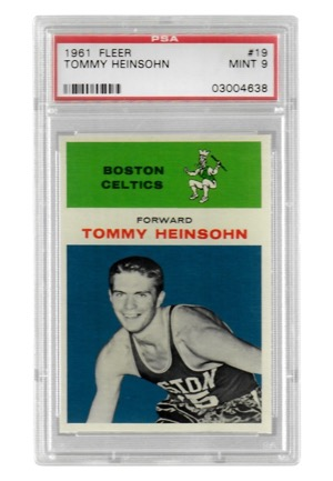 1961 Fleer Tommy Heinsohn #19 (PSA Graded Mint 9)