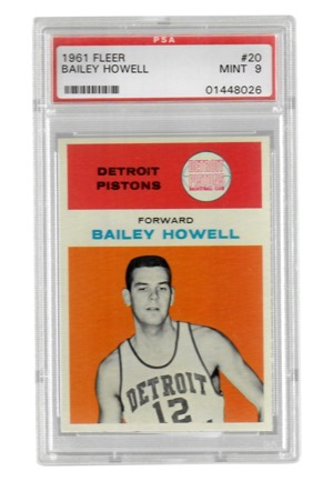 1961 Fleer Bailey Howell #20 (PSA Graded Mint 9)
