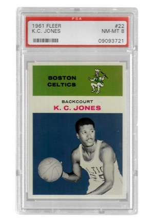 1961 Fleer K.C. Jones #22 (PSA Graded NM-MT 8)