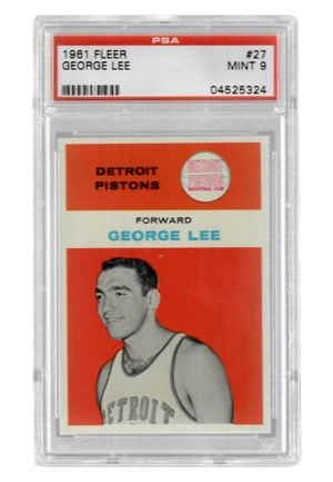 1961 Fleer George Lee #27 (PSA Graded Mint 9)