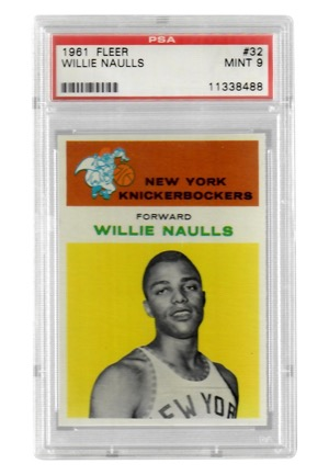 1961 Fleer Willie Naulls #32 (PSA Graded Mint 9)
