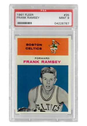 1961 Fleer Frank Ramsey #35 (PSA Graded Mint 9)