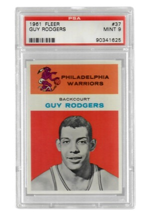 1961 Fleer Guy Rodgers #37 (PSA Graded Mint 9)