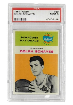 1961 Fleer Dolph Schayes #39 (PSA Graded Mint 9)