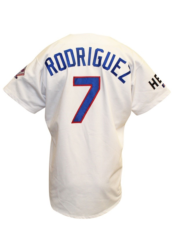 low priced fd9c9 3f867 Lot Detail - 1993 Ivan Rodriguez Texas Rangers Game-Used ...