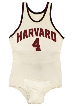 Early 1940s Harvard Crimson Tide Game-Used Wool Jersey (Graded 9)