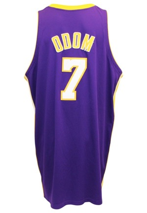 2006-07 Lamar Odom Los Angeles Lakers Game-Used Road Jersey