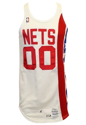 1987-88 Johnny Moore New Jersey Nets Game-Used Home Jersey