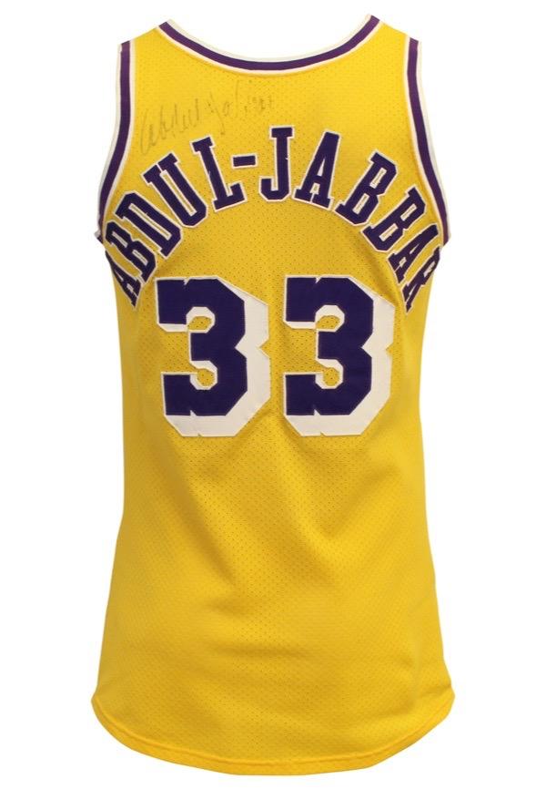 best service 5f7fb 1a5bd Lot Detail - Late 1970s Kareem Abdul-Jabbar LA Lakers Game ...