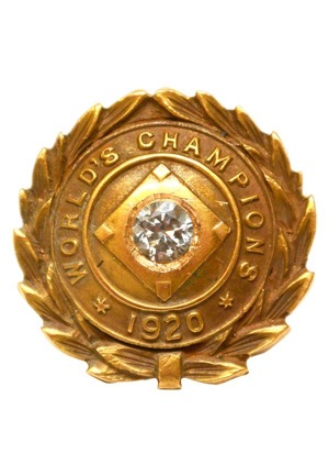 1920 Cleveland Indians Players Championship Pin Presented To Larry Gardner (Only Known Example • Family LOA)