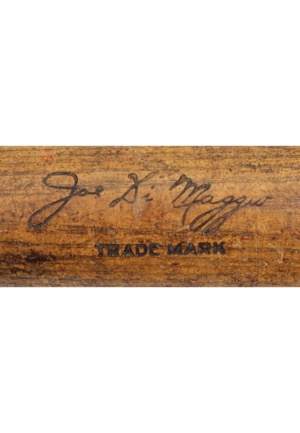 1941 Joe DiMaggio NY Yankees Game-Used Bat – Likely Used During The Hit Streak (PSA/DNA GU7 • DiMaggios Custom Olive Oil Application)