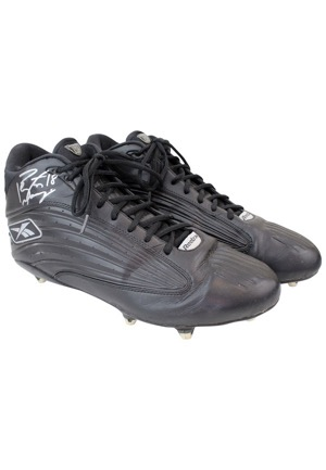 2004 Peyton Manning Indianapolis Colts Game-Used & Dual-Autographed Cleats (Full JSA • Manning LOA • MVP Season)