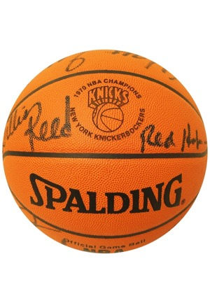 1970 New York Knicks Team-Signed Spalding Basketball (JSA • Championship Season • Purchased Directly From Madison Square Garden)