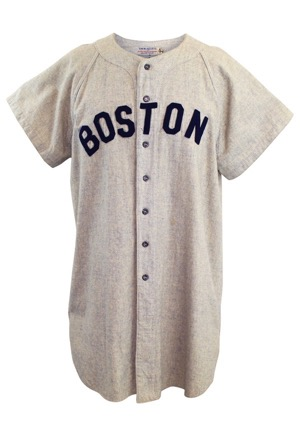 Mid 1940s Joe Cronin Boston Red Sox Player/Manager Game-Used Road Flannel Jersey (Graded 10 • Sourced From Ted Williams • LOA From Consignor • Very Rare)